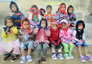 Relief from Cold to Poor Kids