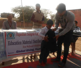 Provide Education Stuff To School Child in India