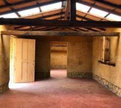 Inside community center built w/reinforced adobe
