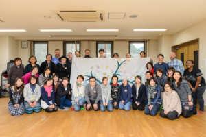 Art workshop group photo in February
