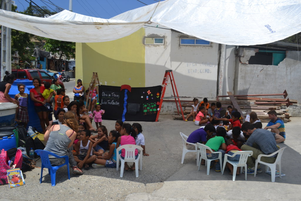 Earthquake Relief for Children in Shelters