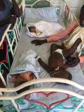 Children at the emergency ward sharing beds