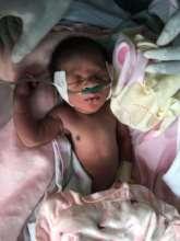 A child receiving oxygen