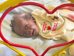 baby Mercy in our nutrition ward