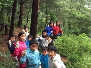 Walking in the mountain to trace water source