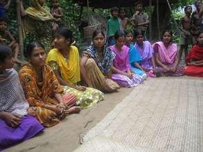 Girls at Safe Space meeting in Bangladesh