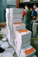 Organising hygiene kits