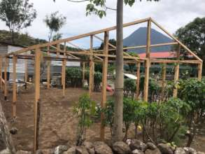 New greenhouse under construction