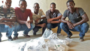 Earlier seed shipment to SPI partner, South Haiti