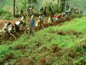 Farmers starting a new garden.