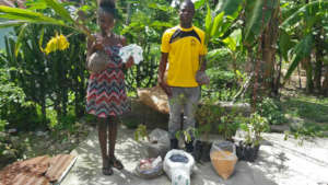 LFBS farmers with seeds, saplings, and trees