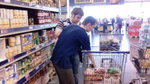 Shopping food for the rehabilitation center