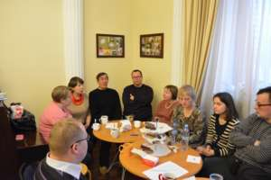 A meeting of the Job Club at Russian House