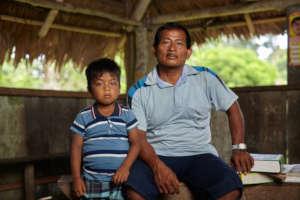 Maijuna father and son. Photo: W. Martinez