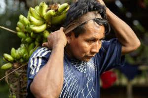 Maijuna Farmer with Produce