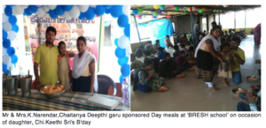 Celebrating Daughter's birthday - Day meal sponsor