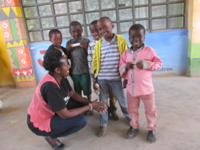 Happy little ones at end of Health Day