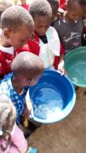 Children learn about hygiene at Health Day