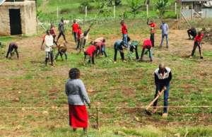 Jitegemee Vocational Students Gardening