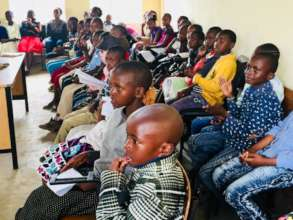 Primary school students attending holiday classes