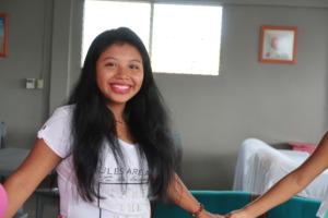 Emelania, 18 years old, studies human resources.