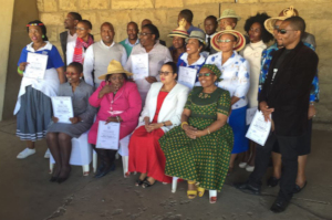 Trainees in Lesotho with thier certificates