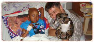 Rethabile and her doctor with the snake