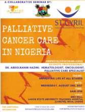 Palliative Care seminar flyer