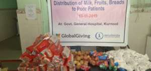 Donating nutrition diet to poor patients in hospit