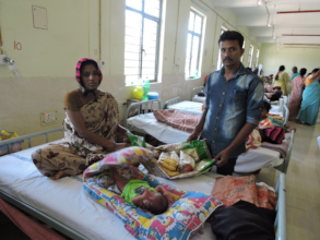 Empowering poor woman donating food nutrition diet