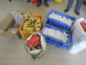 Sponsorship of milk breads fruits to poor patients