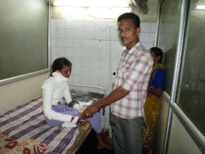 Nutrition Donation to Poor patients in India