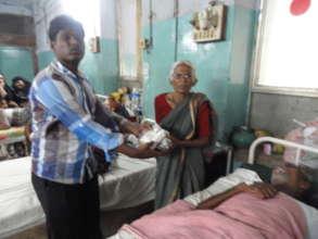 Sponsorship of food for poor elders patients india