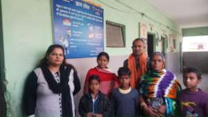 Mainstreamed students with their parents
