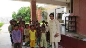 Sukarya founder Meera Satpathy with the children