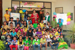 Group Picture of the children of EOW project