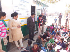 Sukarya founder interacting with the children