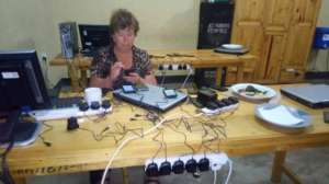 Setting up phones for mapping training