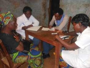 Dr. Alobwede, RECEADIT Community Health Care Team