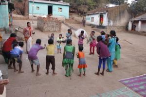 Learning rhymes in Jhiriguma village