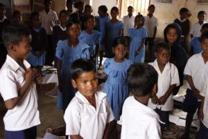 Children eager for fun games in Rasijhiri school