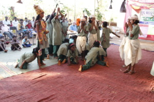 Children performing during the Annual Day