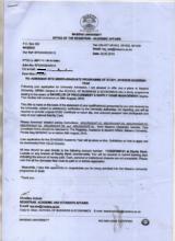 Megan's university admission letter