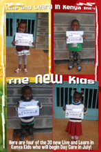 4 of the 30 new LLK Day Care Kids