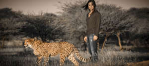 Ann Veith with CCF Resident Cheetah