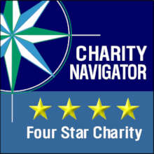 We're rated a 4-Star Charity by Charity Navigator.