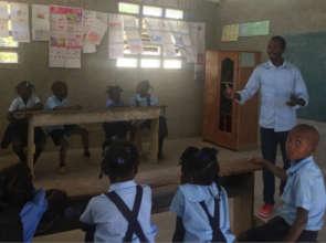 A teacher at the Wesleyan School in Nan Mango