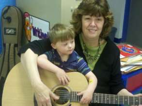 Downs Syndrome students love to play music!