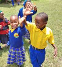 Enthusiastic primary students