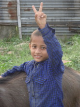 Little Ramesh, happy as always
